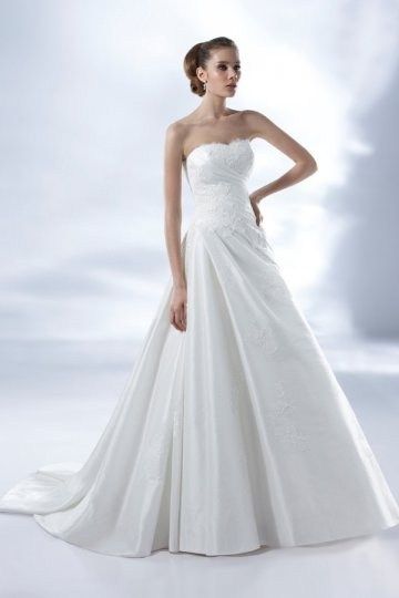 Abbey Taffeta Sweetheart Ruching Court Train Wedding Dress Persun