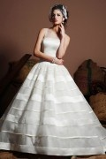 Tiered Ball Gown Unique Organza Wedding Dress