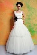 Vintage Rund-Ausschnitt Rückenfrei Ivory Tüll Brautkleider
