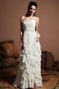 Chic Herz-Ausschnitt Etui-Linie Empire Brautkleider aus Chiffon