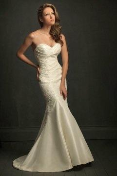 Sexy Sweetheart Backless Mermaid Taffeta Ivory Wedding Dress