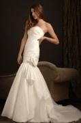Sexy Meerjungfrau Trägerloses Ivory Brautkleider aus Taft