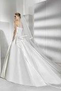 Vestido de noiva Sem alça em cetim com apliques
