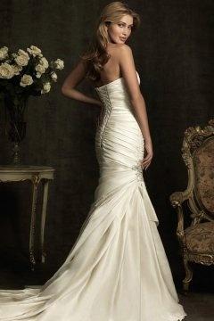 Camelford Satin Sweetheart Beading Ruching Mermaid Wedding Dress