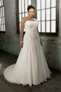 Trägerlos Etui-Linie Ivory Brautkleider aus Chiffon 2014