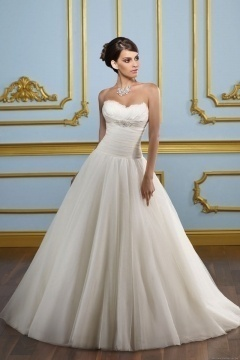 Carterton Organza Sweetheart Feather Ruched Ball Gown Wedding Dress