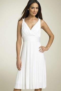 Chatteris Chiffon Straps Ruching Pleats Short Wedding Dress