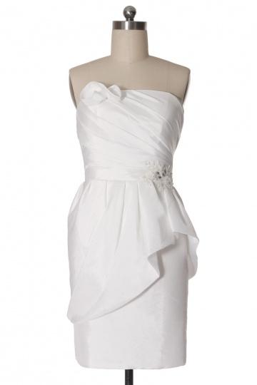 Chic Etui Linie Trägerlos Ärmellos Abendkleid aus Taft Persun