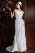Elegantes A-Linie Ein Schulter Empire Brautkleider aus Chiffon