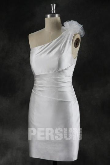 Sexy Kurz Ivory Ein Schulter Abendkleider Persun