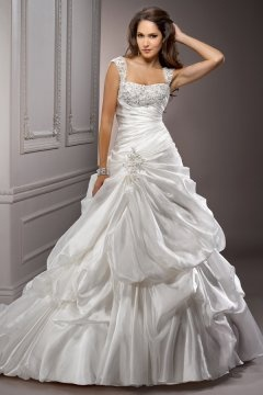 High Wycombe Straps Pick Up Skirt Detachable Wedding Dress