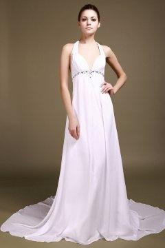 Sexy robe de mariage à dos ouvert