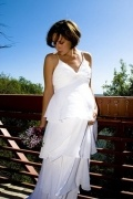 Sexy Chiffon Ivory V Neck Floor Length Ruffles Maternity Bridal Gown