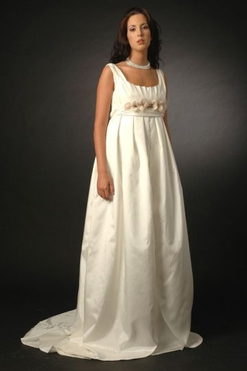 Cheap a line square neck pleated flower maternity wedding for How to become a wedding dress model