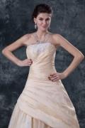 Palácio cor do vestido de noiva tomara que caia lantejoulas renda apliques pregueado em tafetá