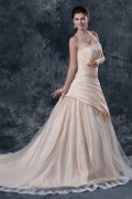 Chic taffeta Wedding Ceremony A Line Bridal dress