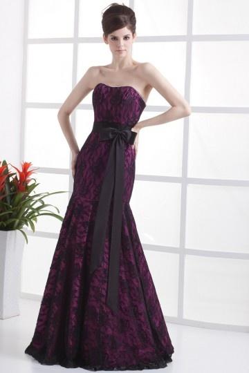 Cheap Unique Bow Strapless Wedding Dress Bridal Gown