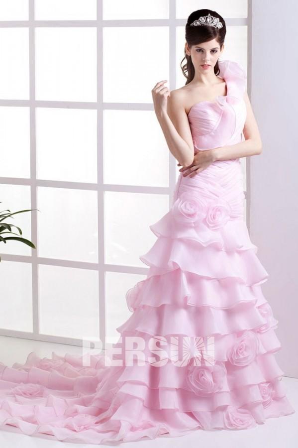 robe-de-mariée-rose-pale