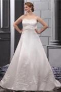 Herz Ausschnitt Ballgown Empire Brautkleid mit Kapelle Schleppe