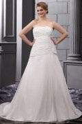 Chiffon Ruffle Embroidery Court Large Size Bridal Gown Wedding Dress