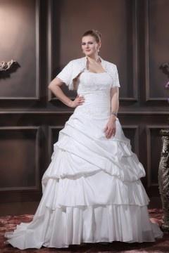 b7ebc1389be5 Strati Ruffle Monospalla Corte Abito Da Sposa Con Taglia Forte