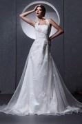 Neckholder A-Linie Herz Ausschnitt Brautkleid mit Hof Schleppe