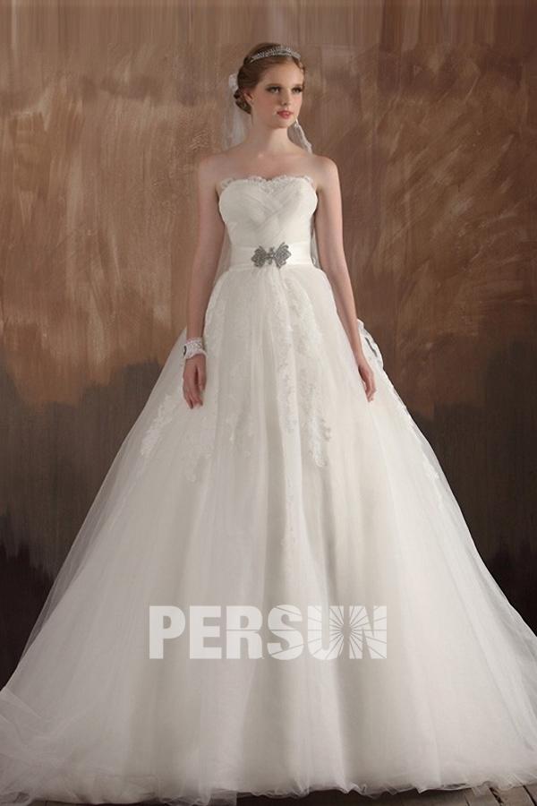 Sweetheart Tulle Princess Wedding Dress under 200