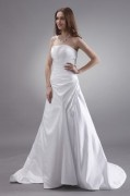 Sweetheart Neck Beaded A line Bridal Gowns Wedding Dress