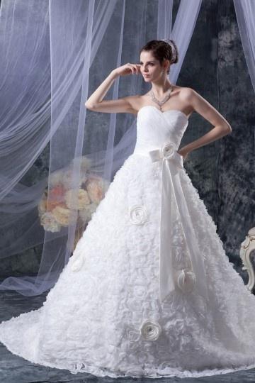 Luxus Herz-Ausschnitt Ivory Ball gown Brautkleider aus Organza Persun