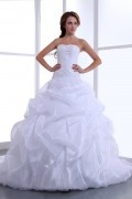 Organza Pieghe Increspature Abito Per Sposa Bello