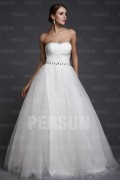 Noble Beaded Princess Empire A Line Tulle Wedding Gown