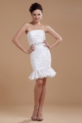 Taffeta Ruffle Short Formal Graduation Dress