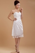 Taffeta Ruffle Flower Sweetheart Short Formal Dress