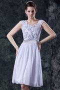 Chiffon Embroidery Flower Short Mini Formal Dress