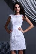 Pretty Satin Sleeveless Zipper Applique Formal Dress