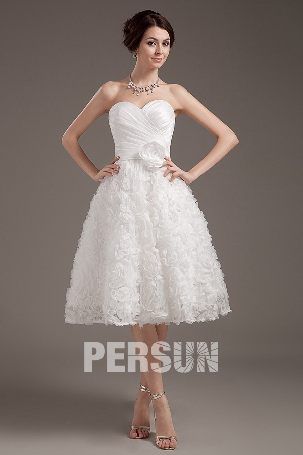 robe bustier courte pour mariage