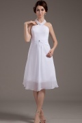 Mini Chiffon Halter Knee Length Formal Dress