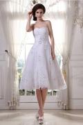 Vestido de noiva curto decote em coração em Tule