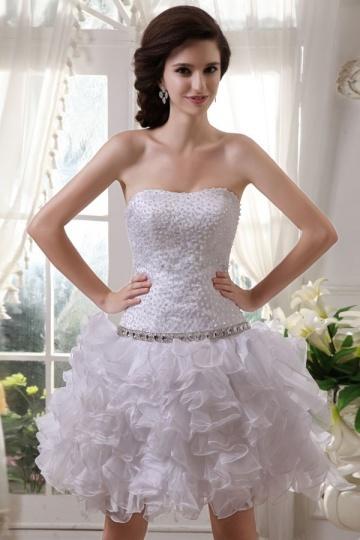 Dressesmall Cheap Beading Embroidery Short Organza Formal Dress