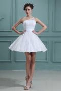 Reißverschluss 1 Schulter Band kurzes Hochzeitskleid aus Spitze