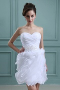 Sweetheart Ruffles Short & Mini Wedding Dress