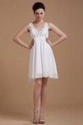 Sexy Chiffon Ruffles Sash Short Formal Dress