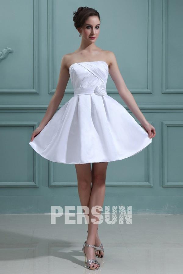 Robe de mariée Robe de mariée bustier Mini robe de mariée simple ...