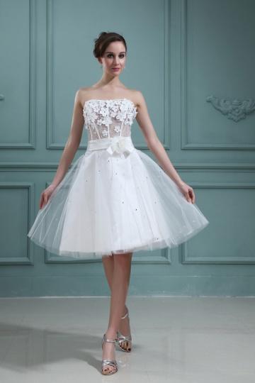 Vestido de noiva sensual bustiê coração, um corpete perfurada