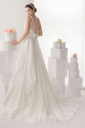 Elegantes langes Brautkleider