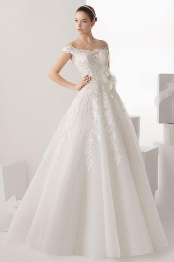 Schönes langes Schulter frei Brautkleider
