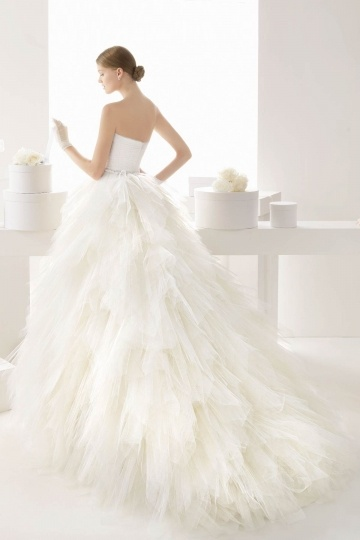 Dressesmall Sweetheart Natural Ball Gown Tiers Wedding Dress With Sleeve