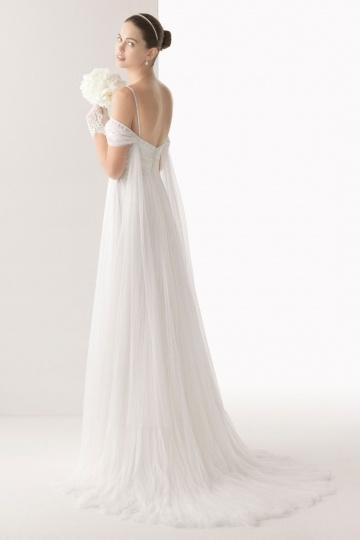 A Linie langes Brautkleider