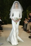 Mermaid Scoop Sweep Beading Sequins Ivory Satin Wedding Dress With ¾ Length Sleeves