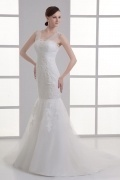 Gorgeous Trumpet Lace Sweetheart Dropped Sequins Wedding Dresses